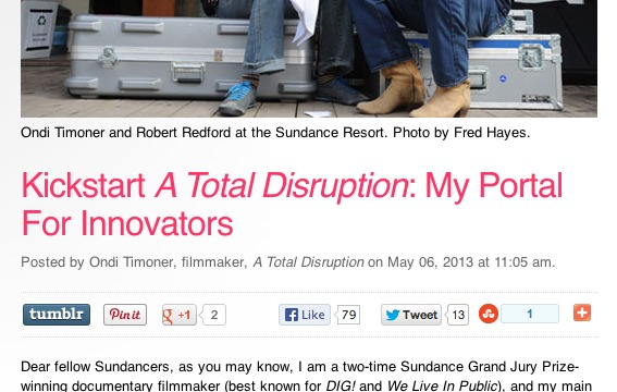 Sundance Institute Features A Total Disruption
