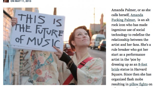 PandoDaily Features ATD's Amanda Palmer Video