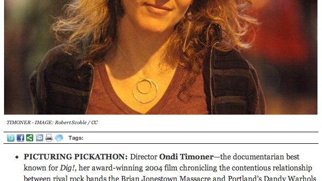 Ondi at Pickathon in Willamette Weekly
